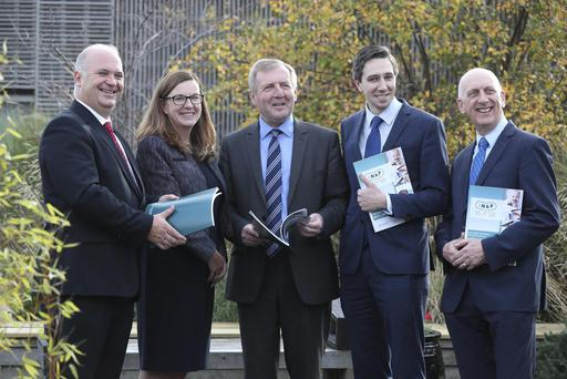 Pictured at the launch of iNAP Ireland's National Action Plan on Antimicrobial Resistance 2017-2020 were Tony Holohan, Chief Medical Officer, Department of Health, Director National Patient Safety Office Dr Kathleen Mac Lellan, Minister for Agriculture, Food and the Marine, Michael Creed TD, Minister for Health, Simon Harris TD and Martin Blake, Chief Veterinary Officer.