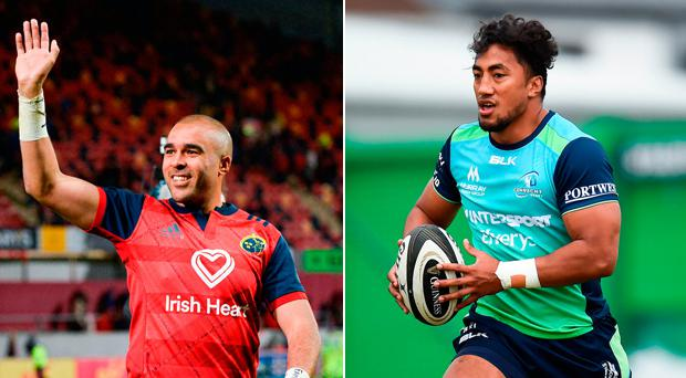 Simon Zebo and Bundee Aki