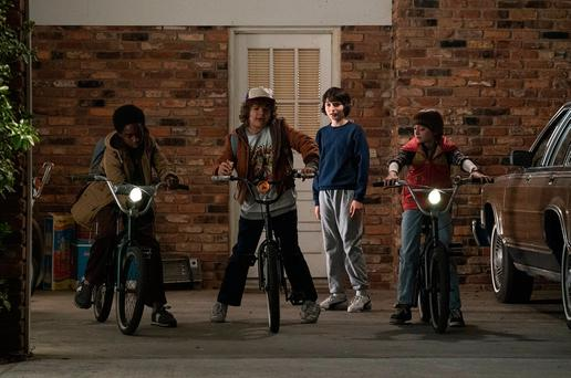 Wheely similar: The kids from Stranger Things on their bikes