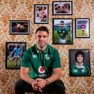 Conor Murray, here launching Vodafone Ireland's rugby campaign ahead of the November series, admits it's hard for the IRFU to compete with French clubs' big offers. Photo: INPHO/Dan Sheridan