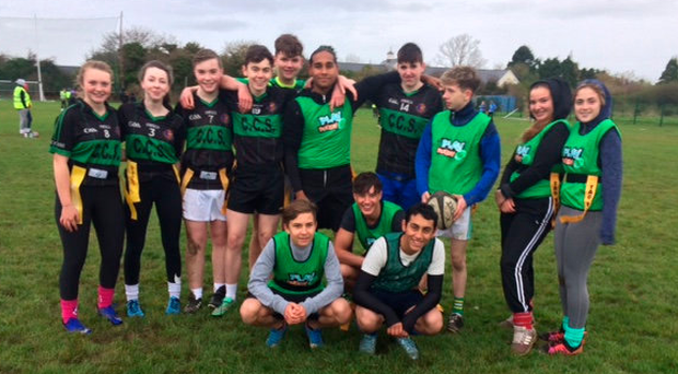 Students who recently took part in a tag rugby blitz at Tralee RFC