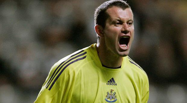 Shay Given during his time at Newcastle