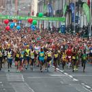 Runners start the Dublin City Marathon last year. Photo: Damien Eagers