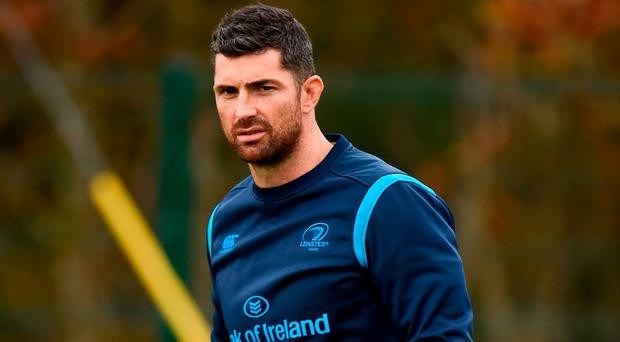 Leinster's Rob Kearney during squad training at UCD in Dublin this week. Photo by Seb Daly/Sportsfile