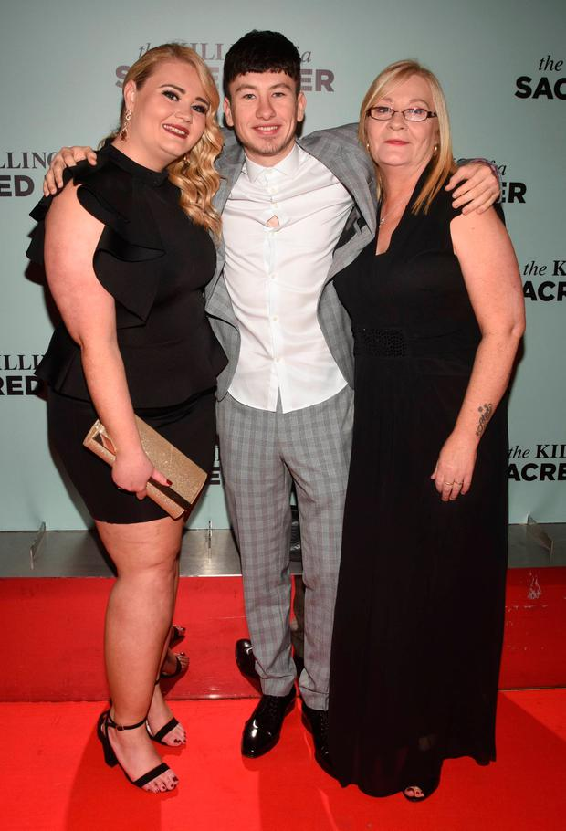 Gemma Keoghan (sister), Barry Keoghan and Lorraine Keoghan (mother) at the The Killing of a Sacred Deer Irish premiere at The Lighthouse Cinema, Dublin