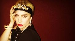 Lady Gaga wearing a crystal hairband by Joanne Hynes for Dunnes Stores. Picture: Instagram