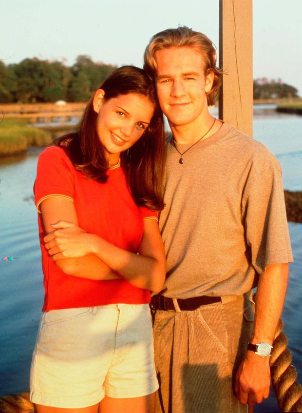 James Van Der Beek and Katie Holmes in 2000