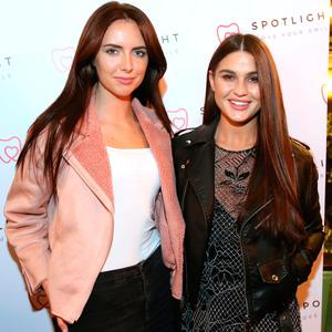 Jess Hayes, left, and Lynn Kelly, right, at the Spotlight Whitening Launch event. Picture: Mark Stedman