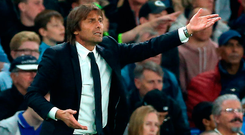 """Conte: """"This is a lack of respect."""" Photo credit: Nigel French/PA Wire"""