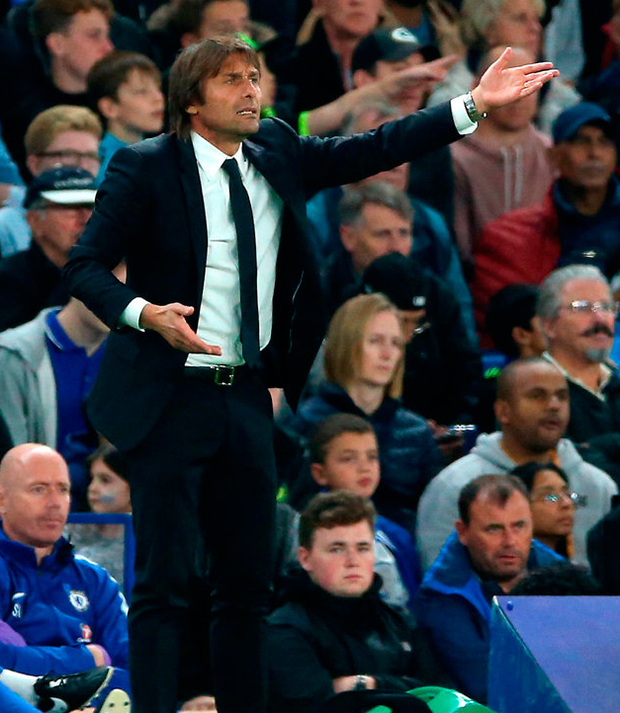 "Conte: ""This is a lack of respect."" Photo credit: Nigel French/PA Wire"