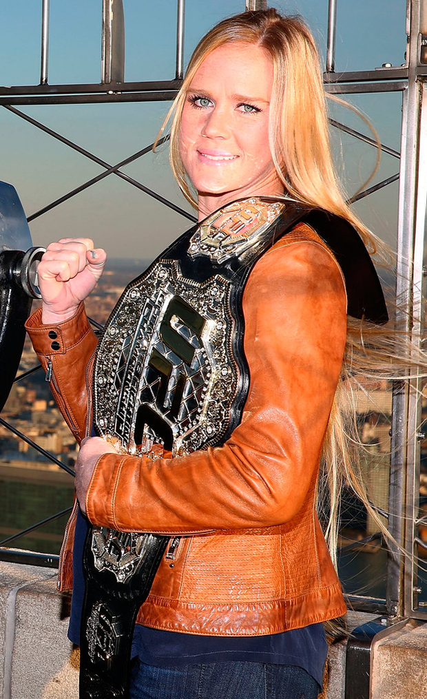 Cchampion Holly Holm. Photo: Astrid Stawiarz/Getty Images