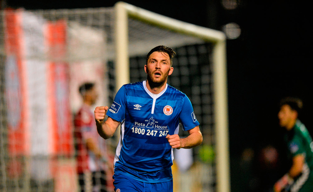 Killian Brennan of St Patrick's Athletic celebrates after scoring his side's first goal