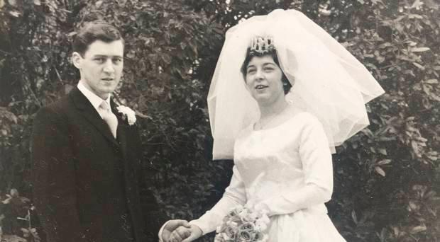 Elizabeth McGreevy on her wedding day with husband Brian