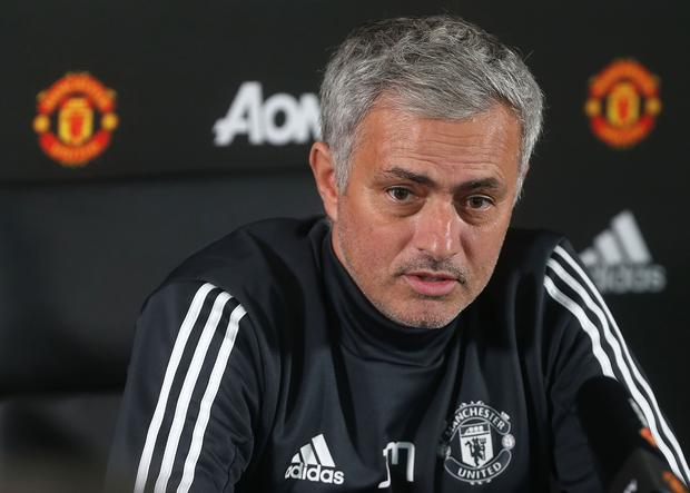 Manager Jose Mourinho of Manchester United speaks during a press conference. (Photo by Matthew Peters/Man Utd via Getty Images)