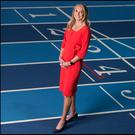 Paula Radcliffe on the track at the National Sports Campus. Photo: David Conachy