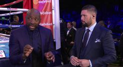 Johnny Nelson and Tony Bellew marvel over Katie Taylor's unanimous decision win over Anahi Sanchez. Credit - skysports.com