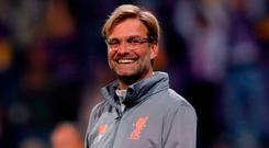 Jurgen Klopp's Liverpool are going well in the Champions League, though he still has defensive problems to address. Photo: Paul Childs/Reuters