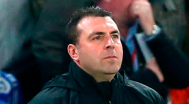 Everton's caretaker manager David Unsworth on the touchline. Photo: Nigel French/PA