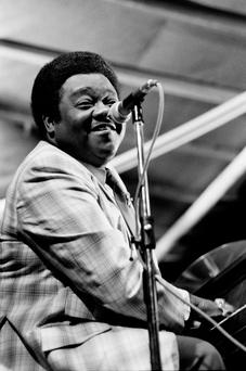 PIANO MAN: Legendary singer-songwriter Fats Domino performing during the Jazz Music Festival in Nice in July 1980. Photo: AFP/Getty Images