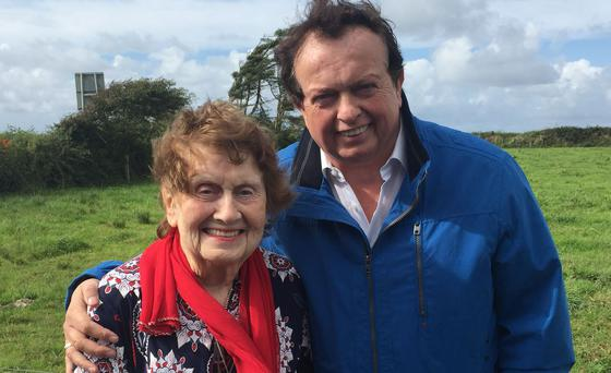 Marty Morrissey and his mother Peggy. PIC: RTE