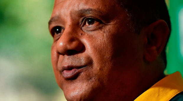 """Coetzee: """"Our process to rebuild the Bok team and steadily work towards the World Cup in Japan is continuing at a good and satisfying pace."""" Photo by Brendan Moran/Sportsfile"""