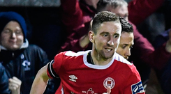 St Patrick's Athletic captain Ian Bermingham. Photo: Sportsfile