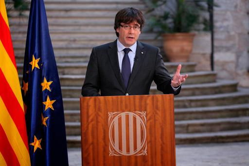 Sacked Catalan President Carles Puigdemont. Photo: REUTERS