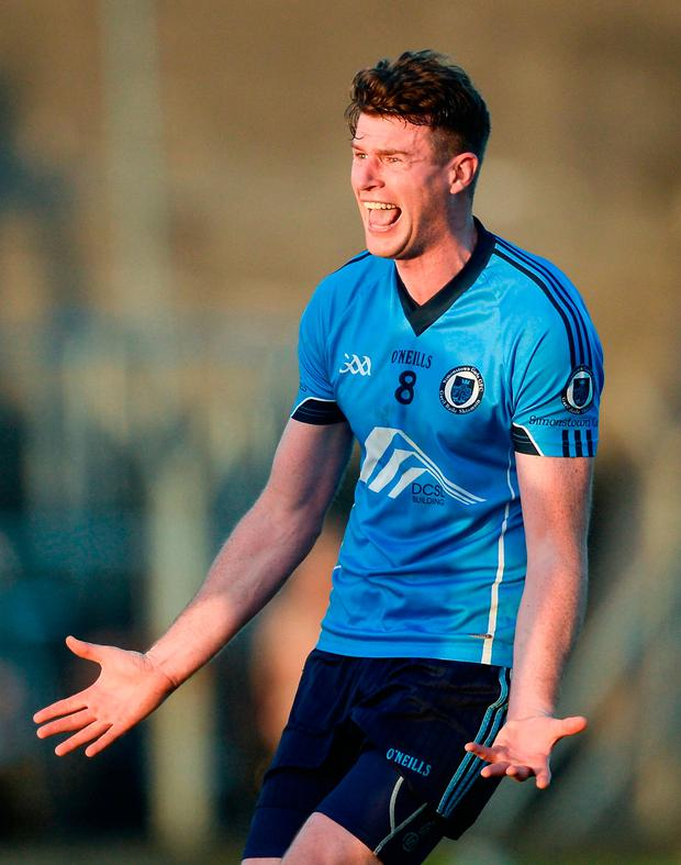 Shane O'Rourke shows his delight at the final whistle. Photo by Piaras Ó Mídheach/Sportsfile