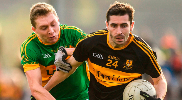 Dr Crokes' Paul Clarke gets away from Liam Ryan during the Munster Club SFC quarter-final at Clonmel Sportsfield. Photo by Eóin Noonan/Sportsfile