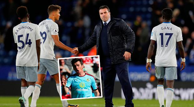 Everton caretaker boss David Unsworth as criticised by Joey Barton (inset) over his weight