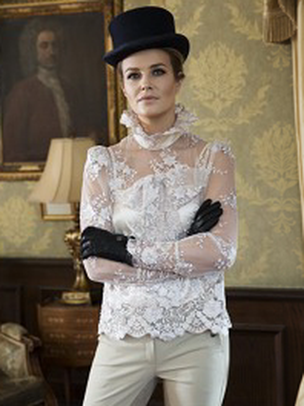 Aoibhin Garrihy wears Blouse, €395, Catriona Hanly. Hat, €120, Christys of London, The Equine Warehouse.