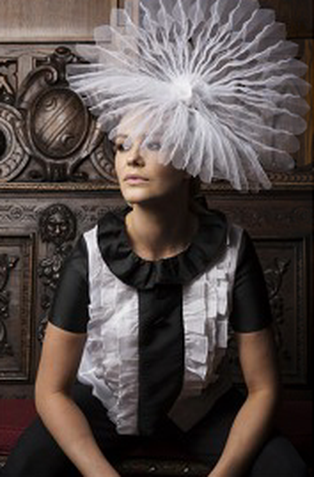 Aoibhin Garrihy wears: Blouse, €349, Catriona Hanly. Hat, €560, The Season Hats