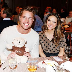 PARK CITY, UT - MARCH 11: Actor Justin Hartley (L) and Chrishell Stause attend Operation Smile's Celebrity Ski & Smile Challenge Presented by the Rodosky Family on March 11, 2017 in Park City, Utah. (Photo by Chad Hurst/Getty Images For Operation Smile)