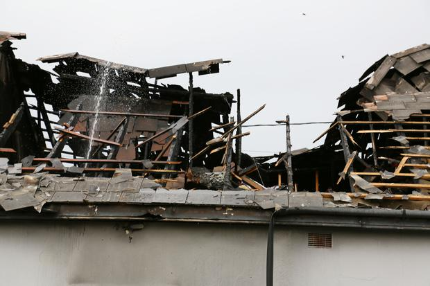 The Pharmacy at Donabate which was destroyed by fire last night Photo: Colin O'Riordan