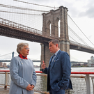 Children's Minister Katherine Zappone with Cormac Quinlan of the child and family agency Tusla in New York for an Irish fact-finding mission on child protection agencies