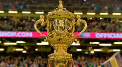 11 October 2015; The Webb Ellis Cup. 2015 Rugby World Cup Pool D, Ireland v France. Millennium Stadium, Cardiff, Wales. Picture credit: Brendan Moran / SPORTSFILE