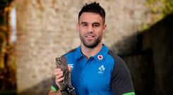 Munster, Ireland and British and Irish Lions scrum-half/star, Conor Murray who has been named the Guinness Rugby Writers of Ireland Player of the Year at the annual Guinness Rugby Writers of Ireland Awards hosted in the Guinness Storehouse. Photo: INPHO/Dan Sheridan