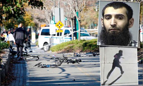 Police said a man drove a rented Home Depot truck on to the cycle path on West Street at around 3pm local time on Tuesday, killing eight people and leaving at least 11 others injured.