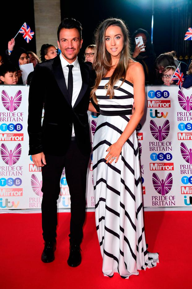 Peter Andre and Emily MacDonagh attending The Pride of Britain Awards 2017, at Grosvenor House, Park Street, London