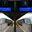 Empty Platforms at Heuston Station during the Irish Rail workers' strike