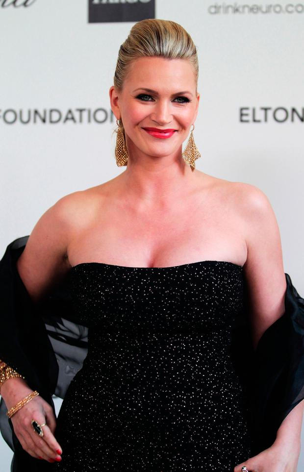 Natasha Henstridge arrives at the 20th Annual Elton John AIDS Foundation's Oscar Viewing Party held at West Hollywood Park on February 26, 2012 in West Hollywood, California. (Photo by Frederick M. Brown/Getty Images)