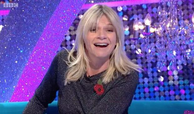 Zoe Ball's was left red-faced on Strictly Come Dancing It Takes Two as she was interrupted by a phone call from her son. Photo: PA / BBC