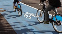 Cycling numbers have grown since the project was first proposed in 2012. Stock Image: GETTY