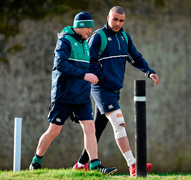 'I've got massive respect for Simon, not just as a rugby player,' Joe Schmidt says of the Munster back. 'He is an incredibly likeable young man. It is difficult for me as well.' Photo: Sportsfile