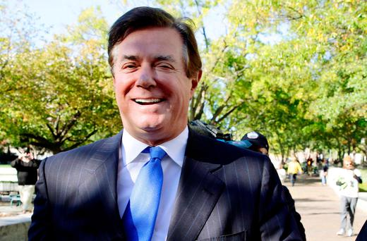 U.S. President Donald Trump's former campaign manager Paul Manafort. Photo: Reuters