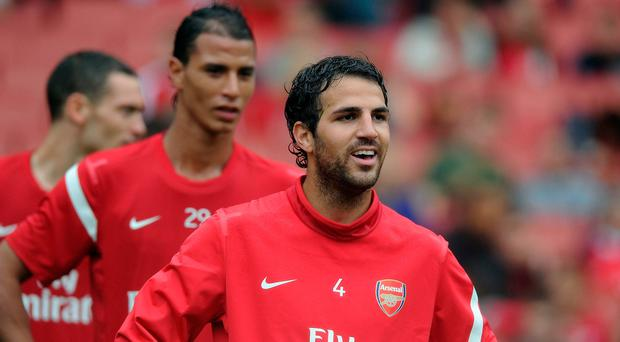 Cesc Fabregas of Arsenal attends a Arsenal Members Day Open Training Session at Emirates Stadium on August 4, 2011 in London, England. (Photo by Stuart MacFarlane/Arsenal FC via Getty Images)