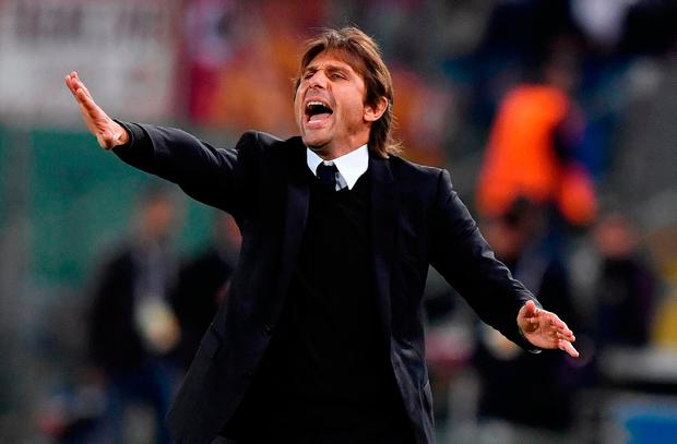 Antonio Conte faces a crucial game for his future when Chelsea meet Jose Mourinho and Manchester United on Sunday. Photo: AP