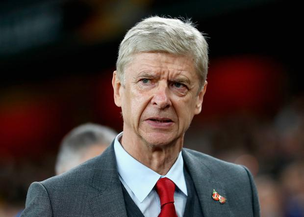 Arsene Wenger, Manager of Arsenal looks on prior to the UEFA Europa League group H match between Arsenal FC and Crvena Zvezda at Emirates Stadium on November 2, 2017 in London, United Kingdom. (Photo by Bryn Lennon/Getty Images)