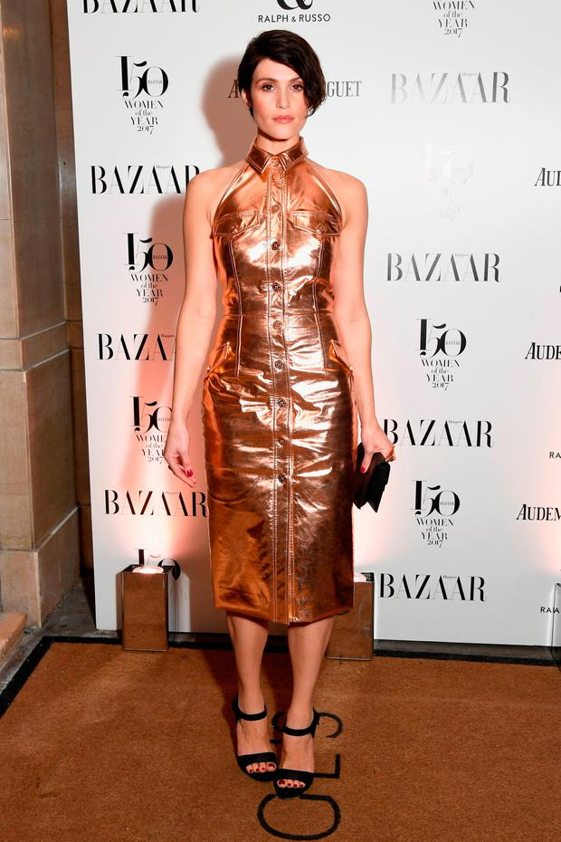 Actress Gemma Arterton arrives at the Harper's Bazaar Woman Of The Year Awards held at Claridges Hotel on November 2, 2017 in London, England. (Photo by Stuart C. Wilson/Getty Images)
