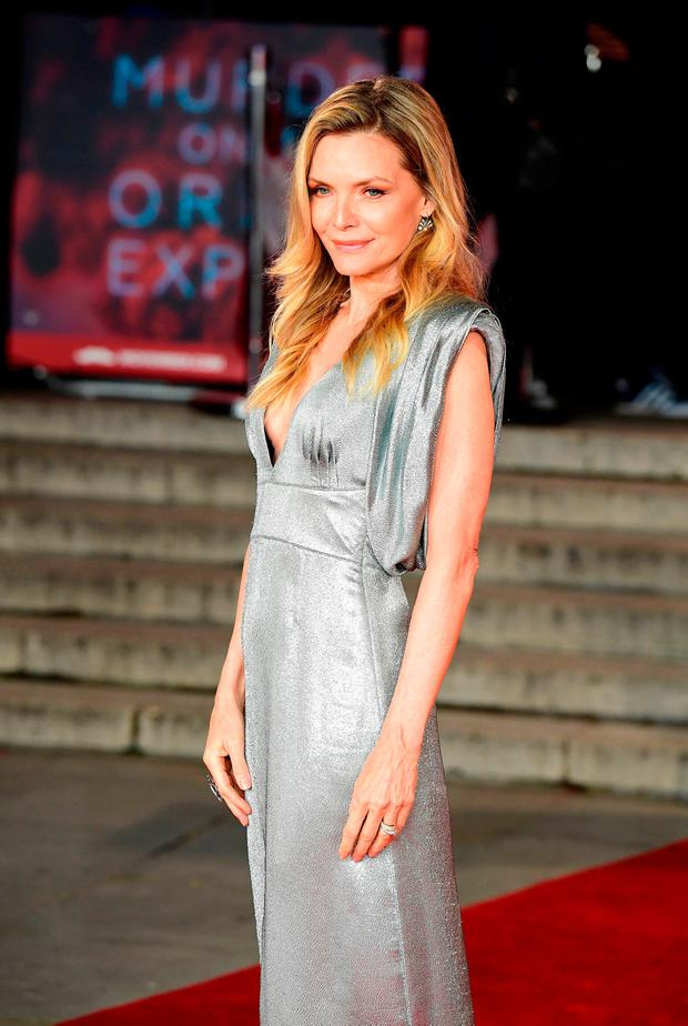 Michelle Pfeiffer attending the world premiere of Murder On The Orient Express at the Royal Albert Hall, London